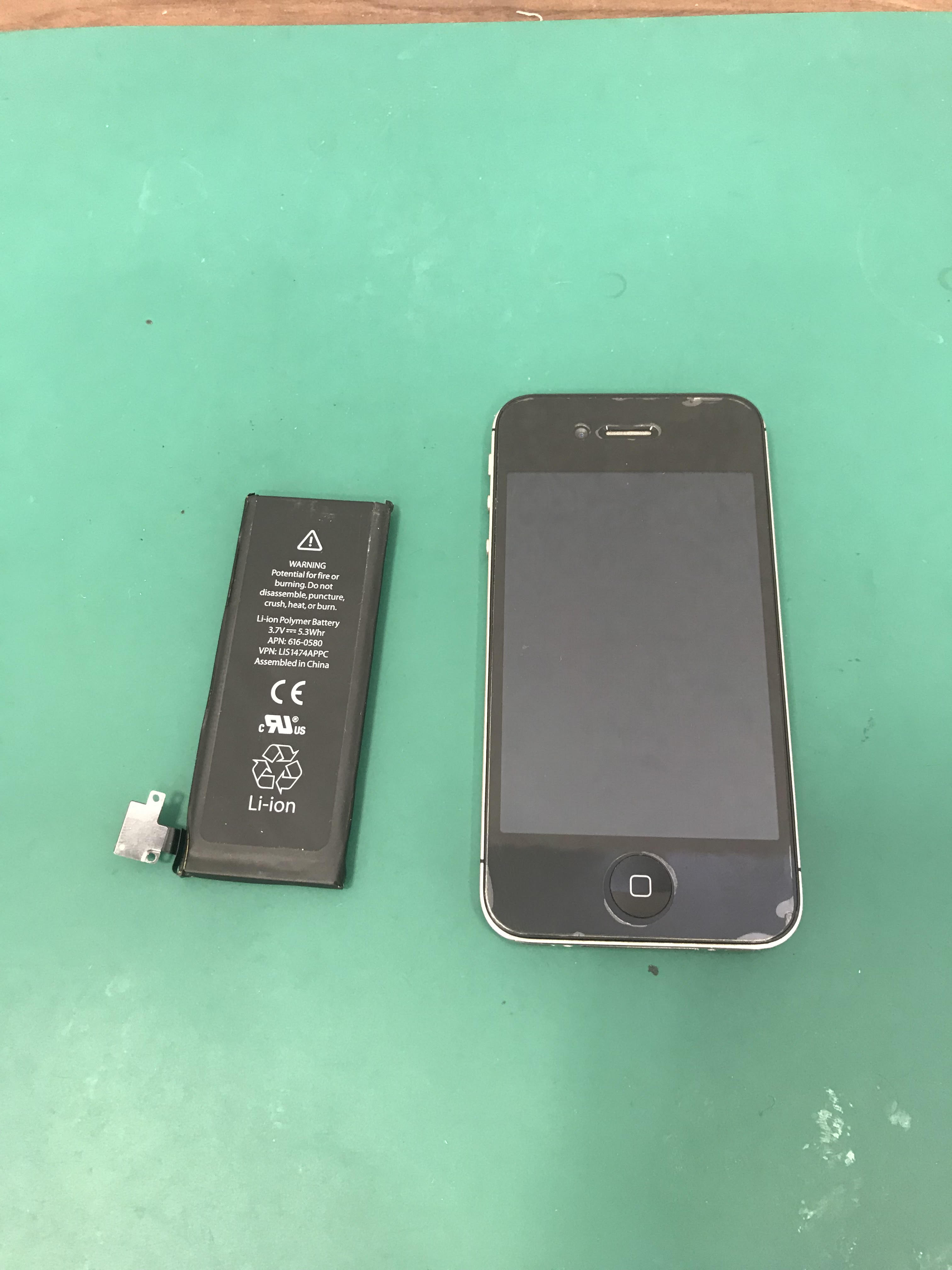 iPhone4s バッテリー